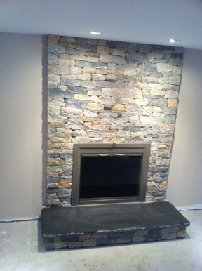 fireplace facelifts stone veneer hearth stone real stone - How To Stone Veneer Fireplace