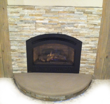 Stone Veneer Fireplace Upgrade Salem MA