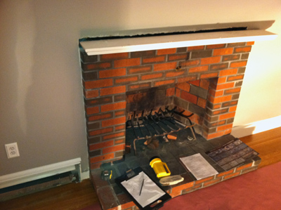 How To Renovate A Fireplace Using Stone Veneer ...