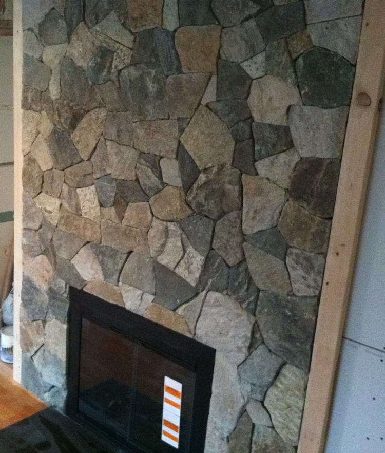 stone veneer over brick fireplace fireplace remodel stone veneer