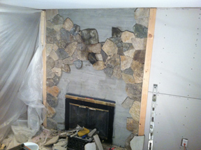 fireplace remodel stone veneer melrose ma - Fireplace With Stone Veneer